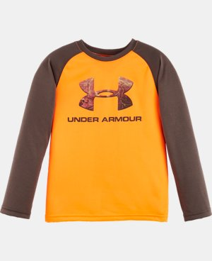 New Arrival Boys' Pre-School UA Hunt Big Logo Raglan Long Sleeve  1 Color $22.99