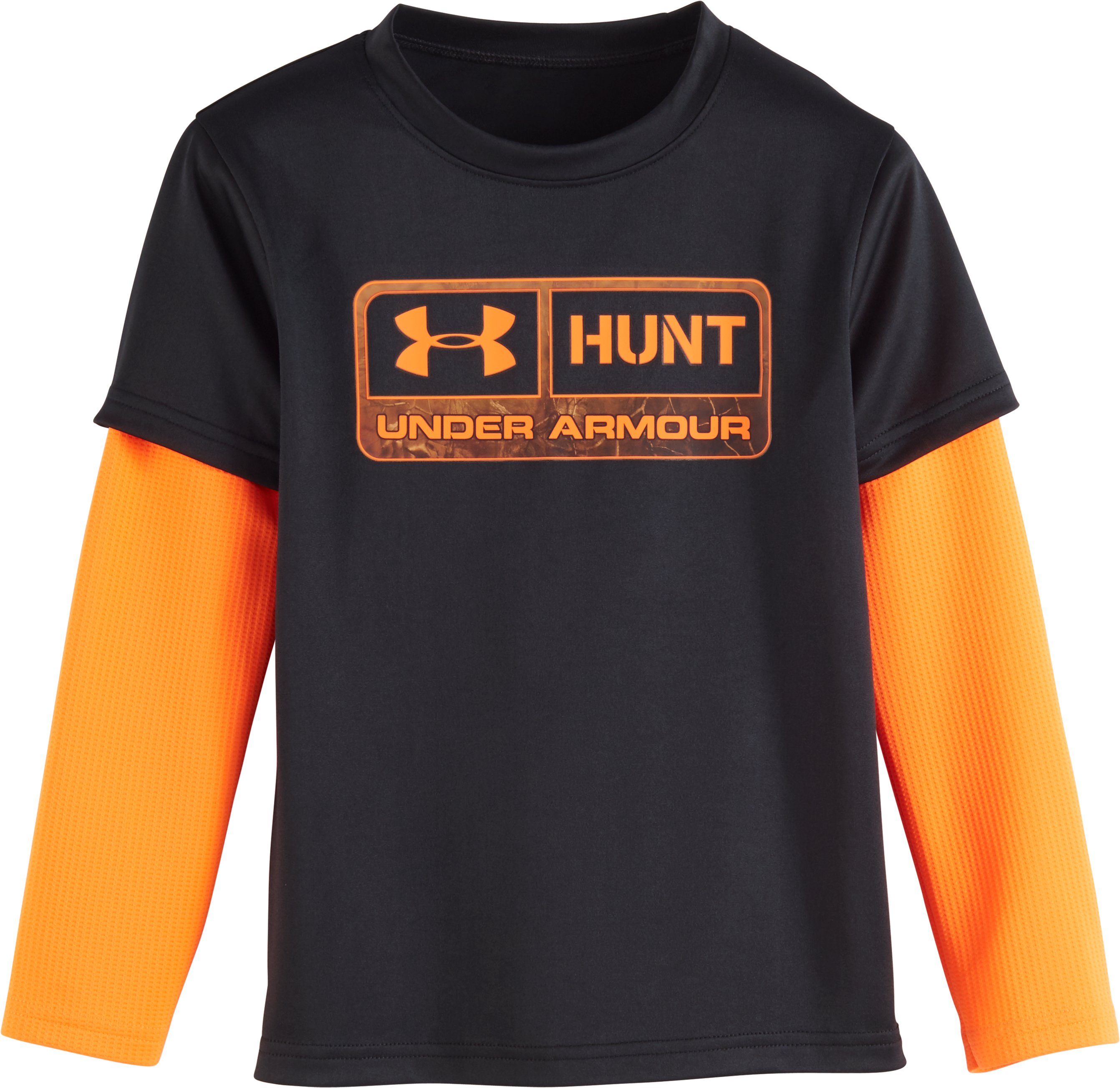 Boys' Toddler UA Hunt Slider, Black , Laydown