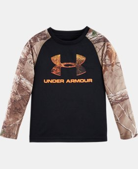 New Arrival Boys' Pre-School UA Logo Raglan Long Sleeve   2 Colors $34.99