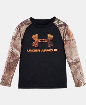 Boys' Pre-School UA Logo Raglan Long Sleeve  LIMITED TIME: FREE U.S. SHIPPING 2 Colors $26.99 to $34.99