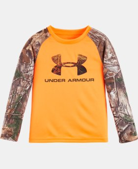 Boys' Pre-School UA Logo Raglan Long Sleeve  LIMITED TIME: FREE U.S. SHIPPING 1 Color $26.99 to $34.99