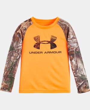 New Arrival Boys' Pre-School UA Logo Raglan Long Sleeve   1 Color $34.99
