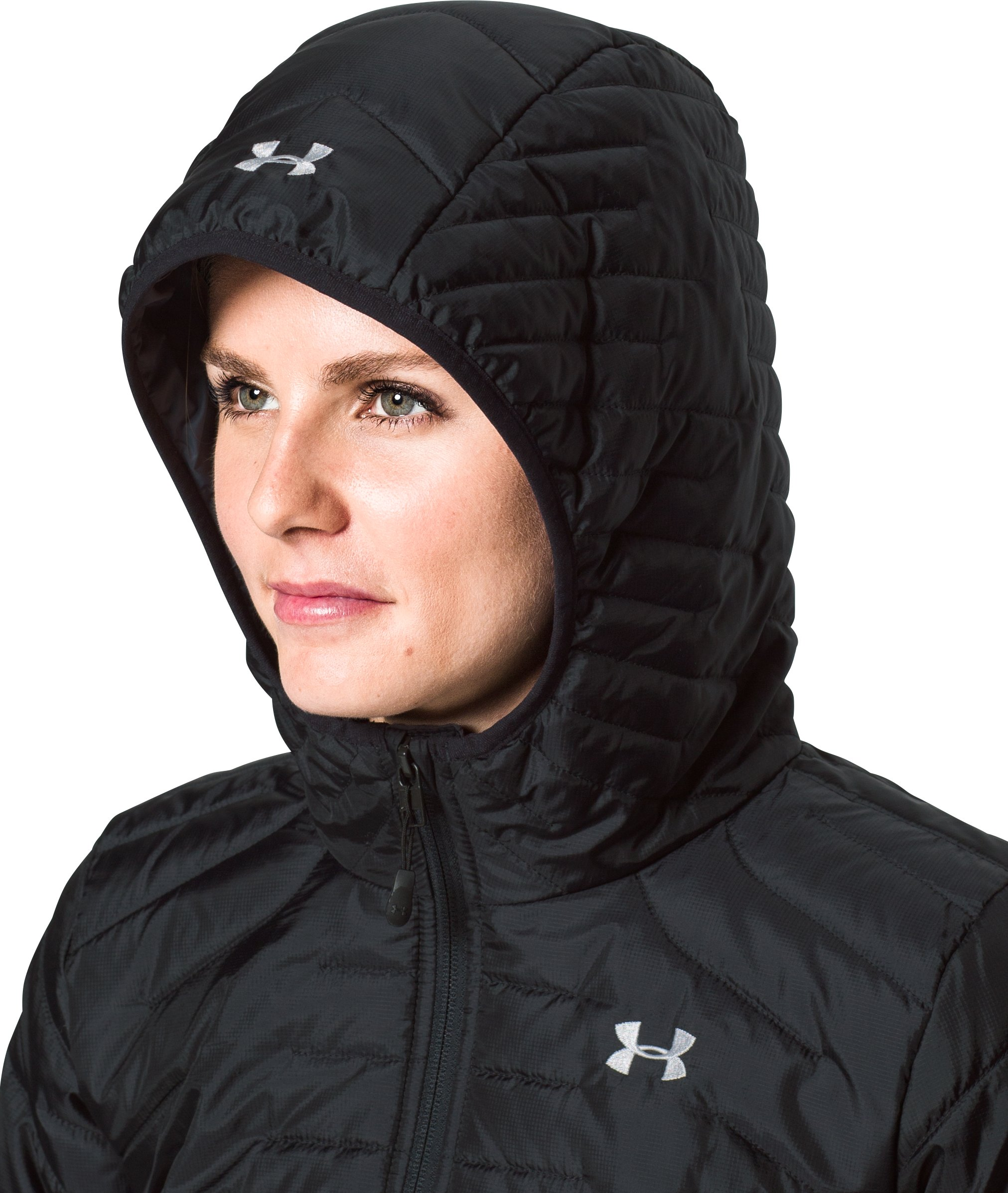 Women's ColdGear® Reactor Hybrid Jacket, Black ,