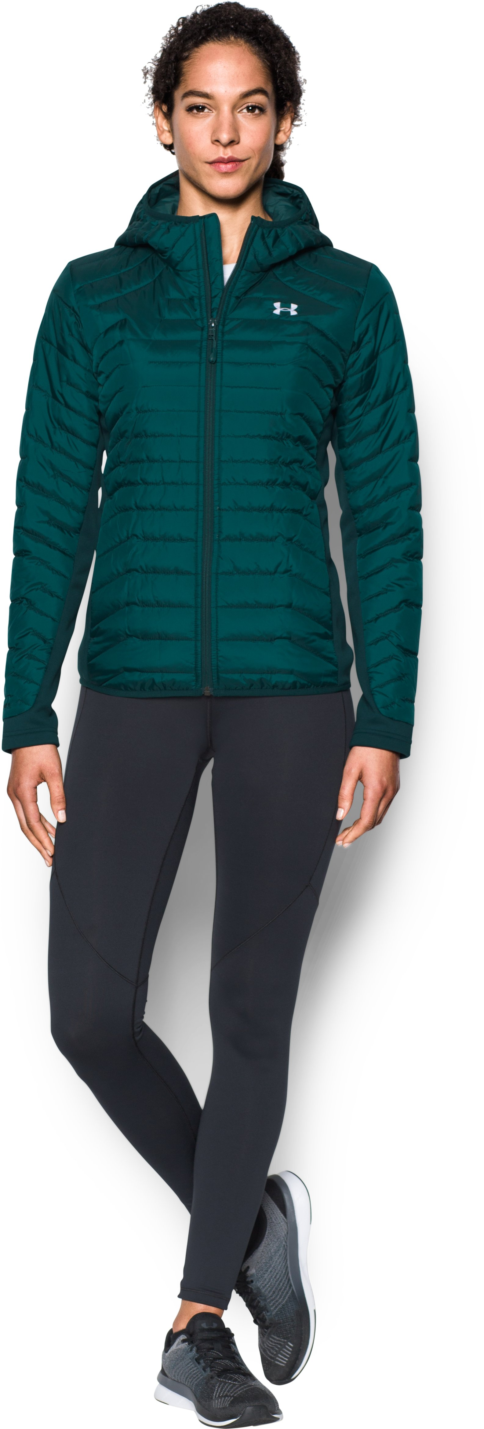 Women's ColdGear® Reactor Hybrid Jacket, ARDEN GREEN, Front