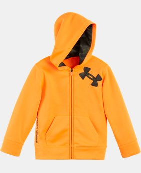 Boys' Pre-School UA Camo Logo Full Zip Hoodie  1 Color $32.99