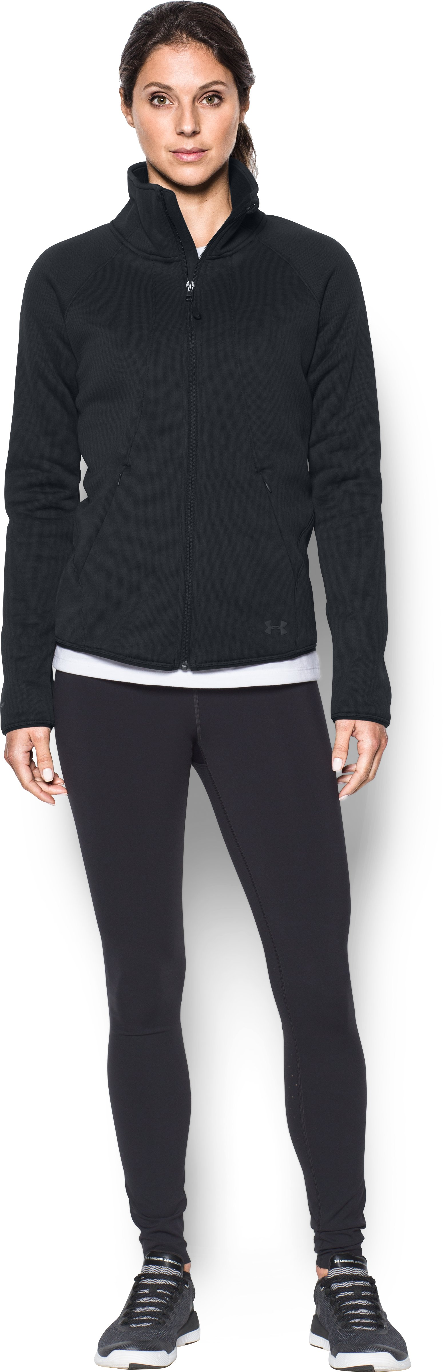 Women's UA Extreme ColdGear® Jacket, Black , Front