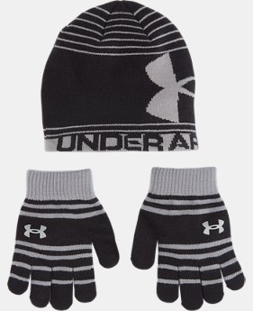 New Arrival Boys' Pre-School UA Beanie & Glove Combo Pack  1 Color $29.99