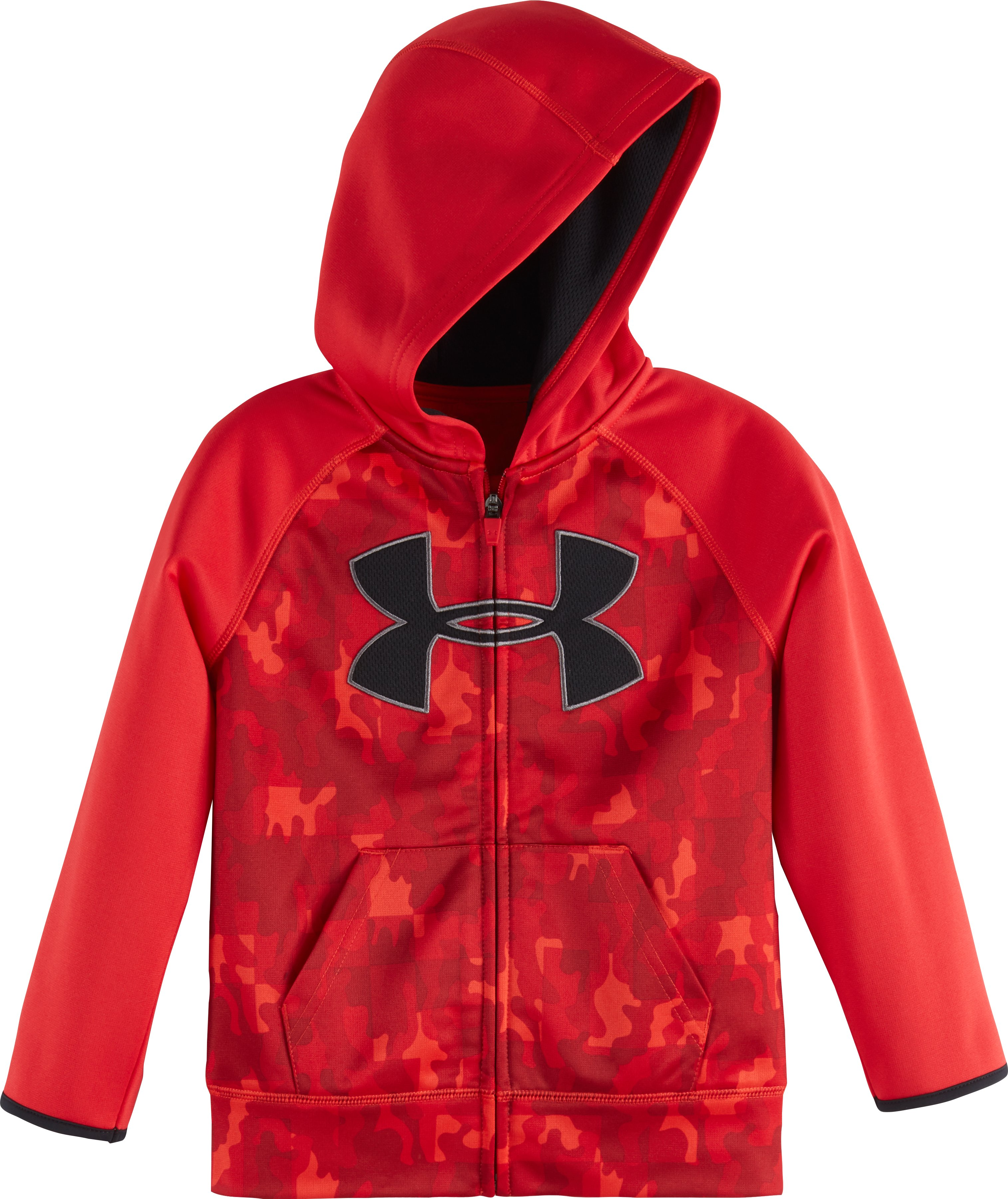 Boys' Pre-School UA Atlas Big Logo Hoodie, Red