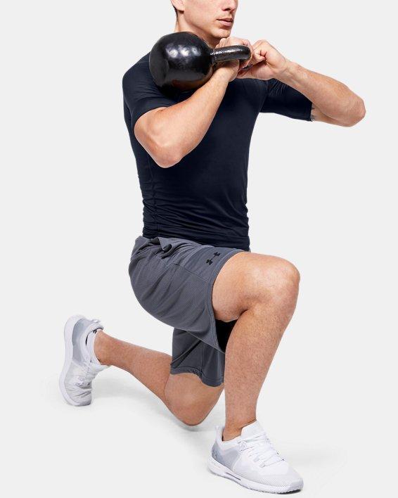Men's HeatGear® Armour Compression Short Sleeve, Navy, pdpMainDesktop image number 1