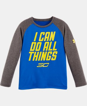 Boys' Pre-School SC30 I Can Do All Things Raglan Long Sleeve  1 Color $26.99