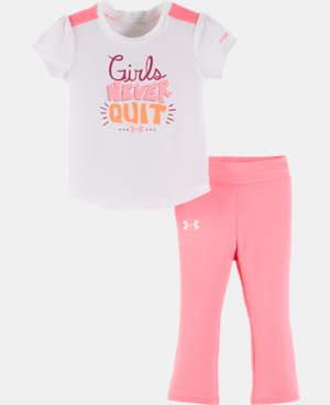 New Arrival Girls' Infant UA Girls Never Quit Set LIMITED TIME: FREE U.S. SHIPPING  $26.99