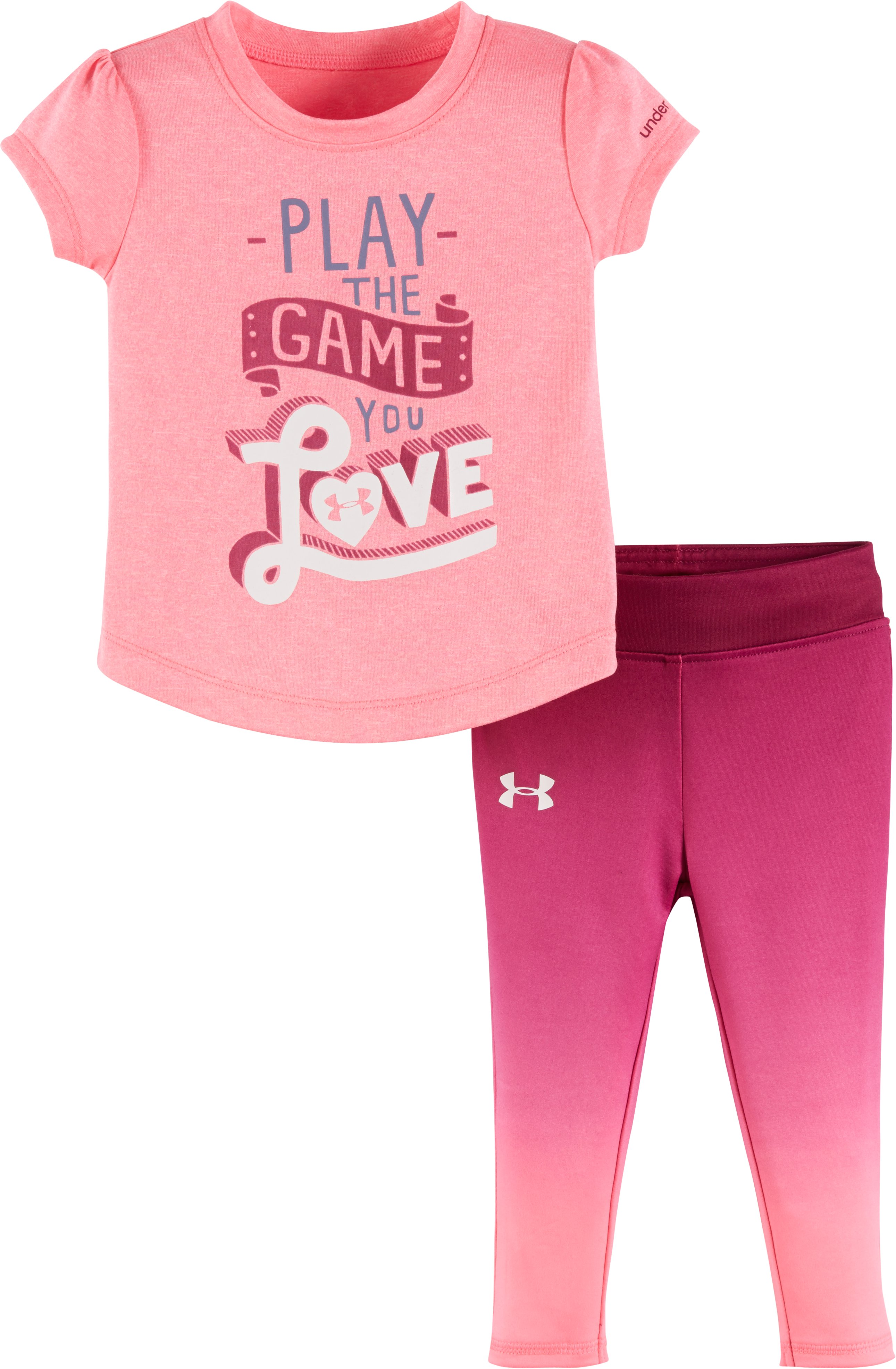 Girls' Infant UA Play The Game You Love Set, PINK PUNK