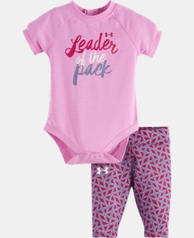 New Arrival Girls' Newborn UA Leader Of The Pack Set LIMITED TIME: FREE U.S. SHIPPING 1 Color $26.99