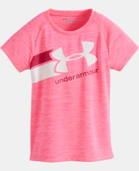 New Arrival Girls' Pre-School UA Novelty Fast Lane Short Sleeve   $21.99