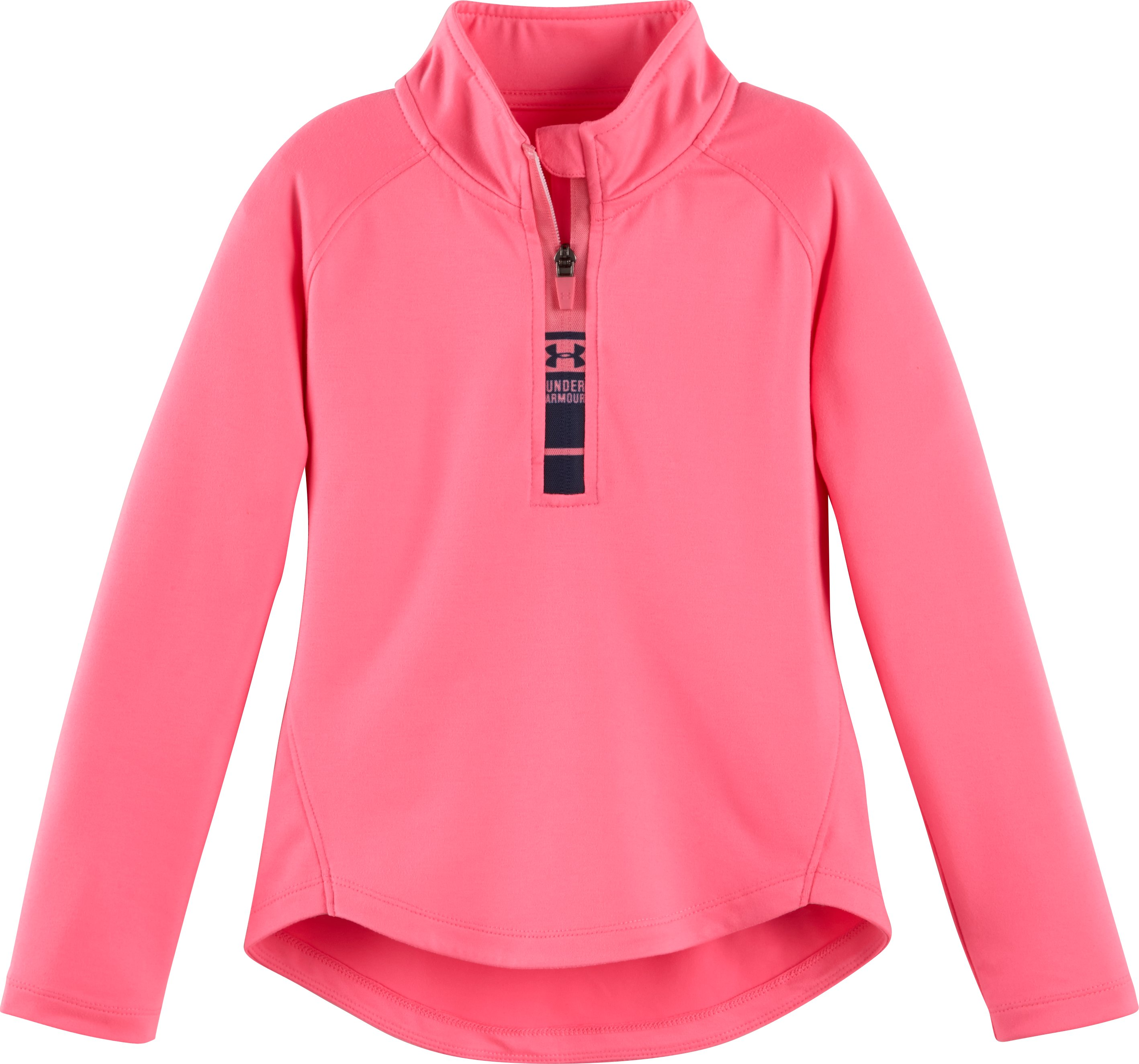 Girls' Infant UA World Of Tech™ 1/4 Zip, PINK PUNK, Laydown