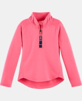 Girls' Pre-School UA World Of Tech™ 1/4 Zip LIMITED TIME: FREE U.S. SHIPPING  $34.99
