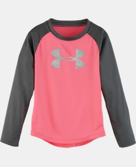 New Arrival Girls' Pre-School UA Checkpoint Shimmer Raglan    $29.99