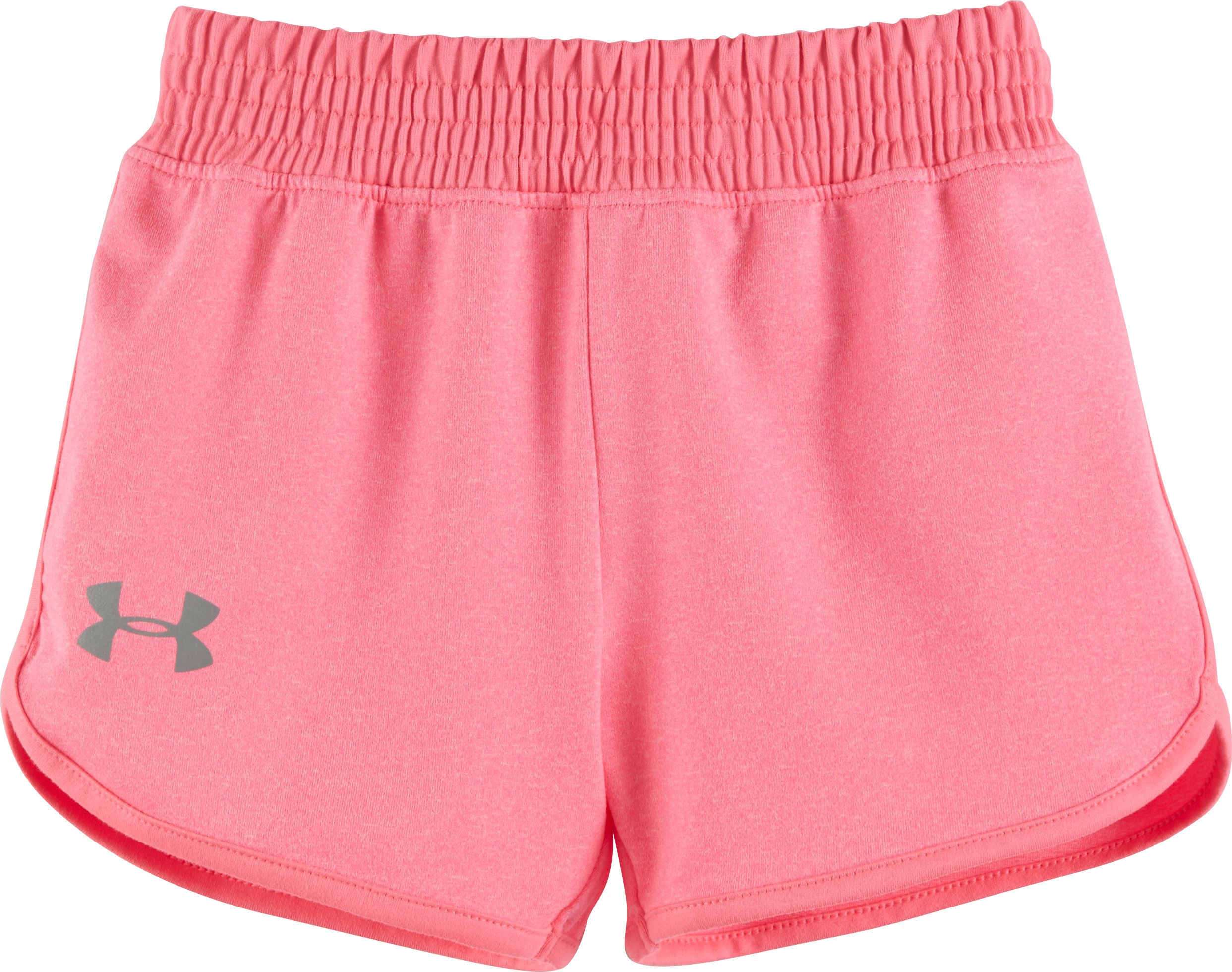 Girls' Toddler UA Record Breaker Shorts, PINK PUNK, Laydown