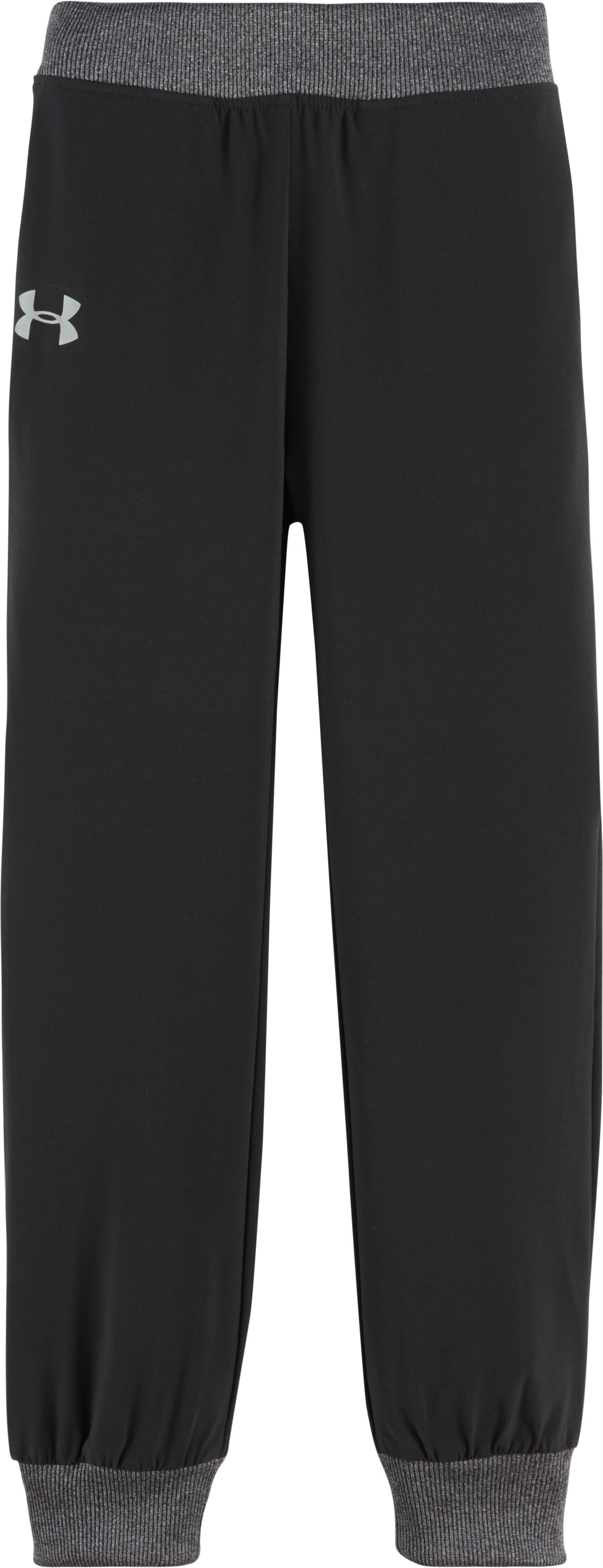 Girls' Pre-School UA Keep Moving Woven Pants, Black , zoomed image