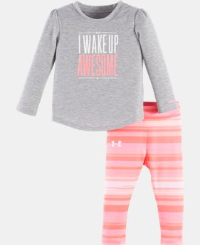 New Arrival Girls' Infant UA I Wake Up Awesome Set   $34.99