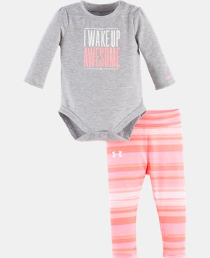New Arrival Girls' Newborn UA I Wake Up Awesome Set   $34.99