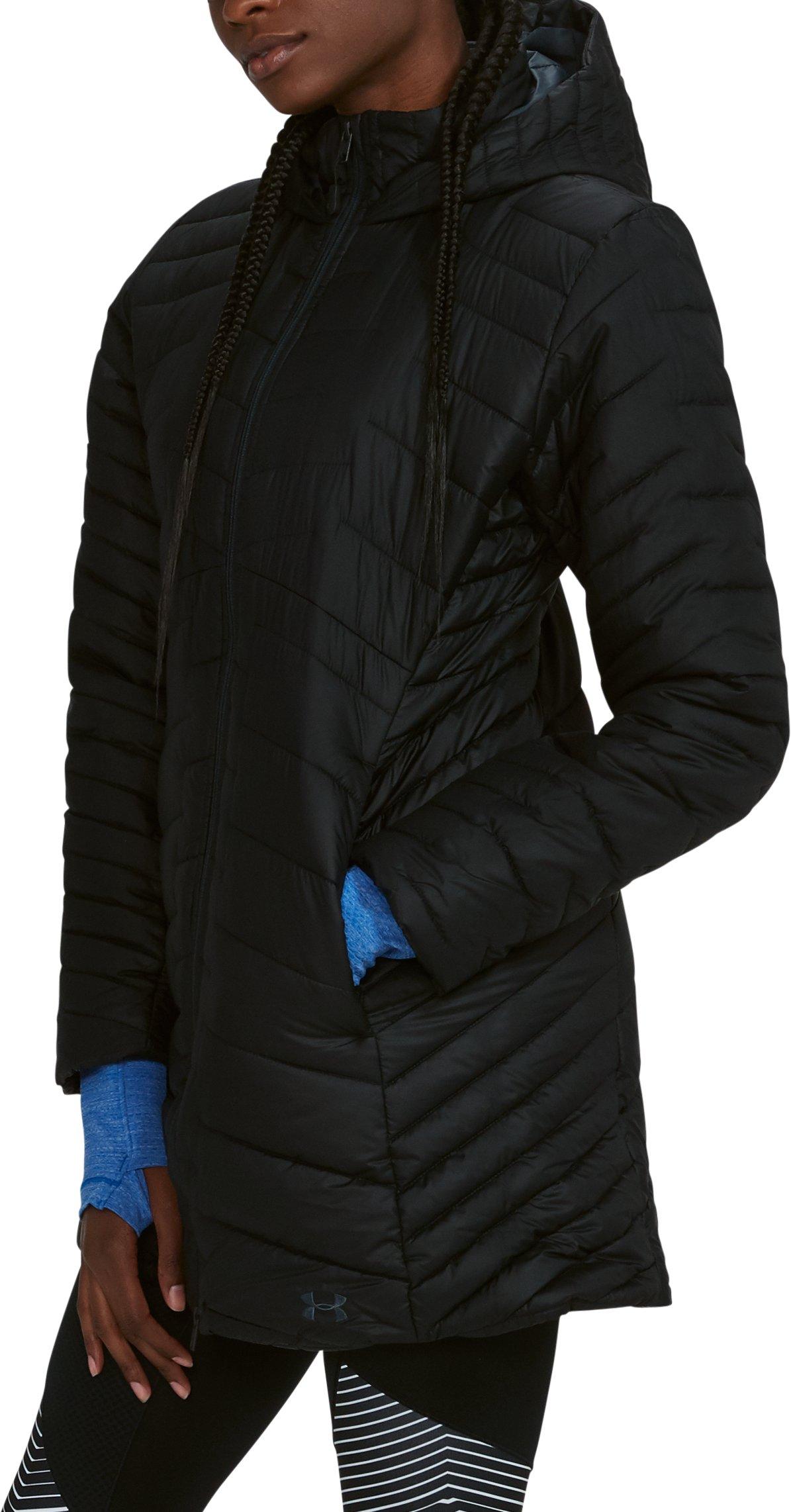 Women's ColdGear® Reactor Parka, Black , undefined