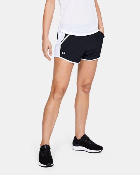 Women's UA Fly-By Shorts, Black, pdpMainDesktop image number 2