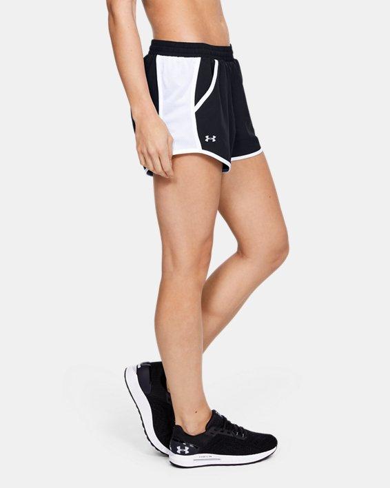 Women's UA Fly-By Shorts, Black, pdpMainDesktop image number 4