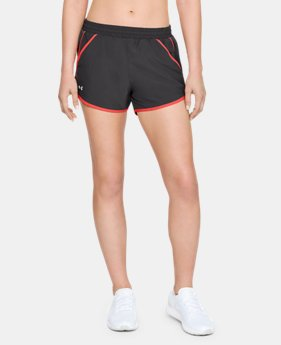 Best Seller Women's UA Fly-By Shorts  3  Colors Available $24.99