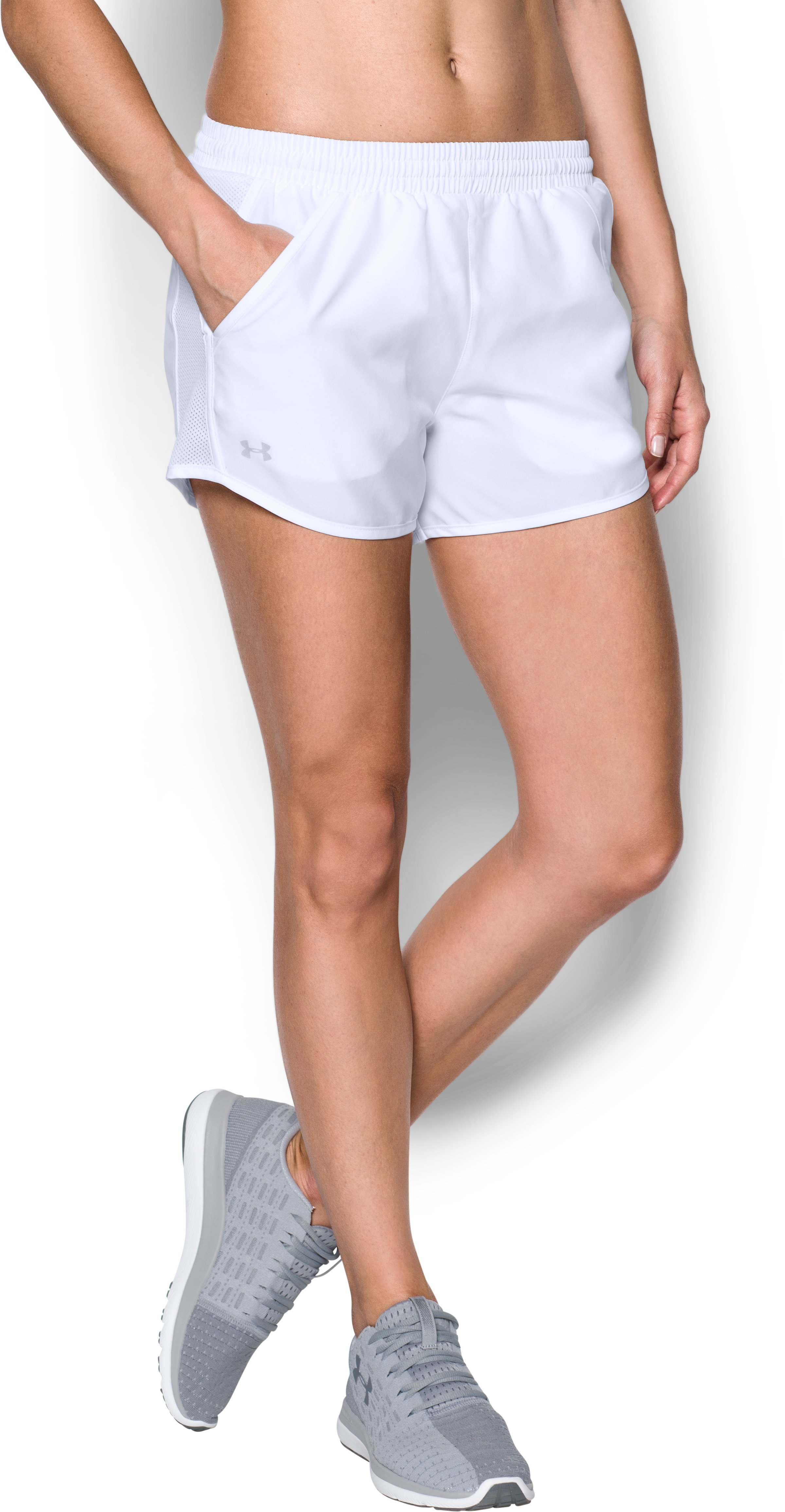 Women's UA Fly-By Shorts, White