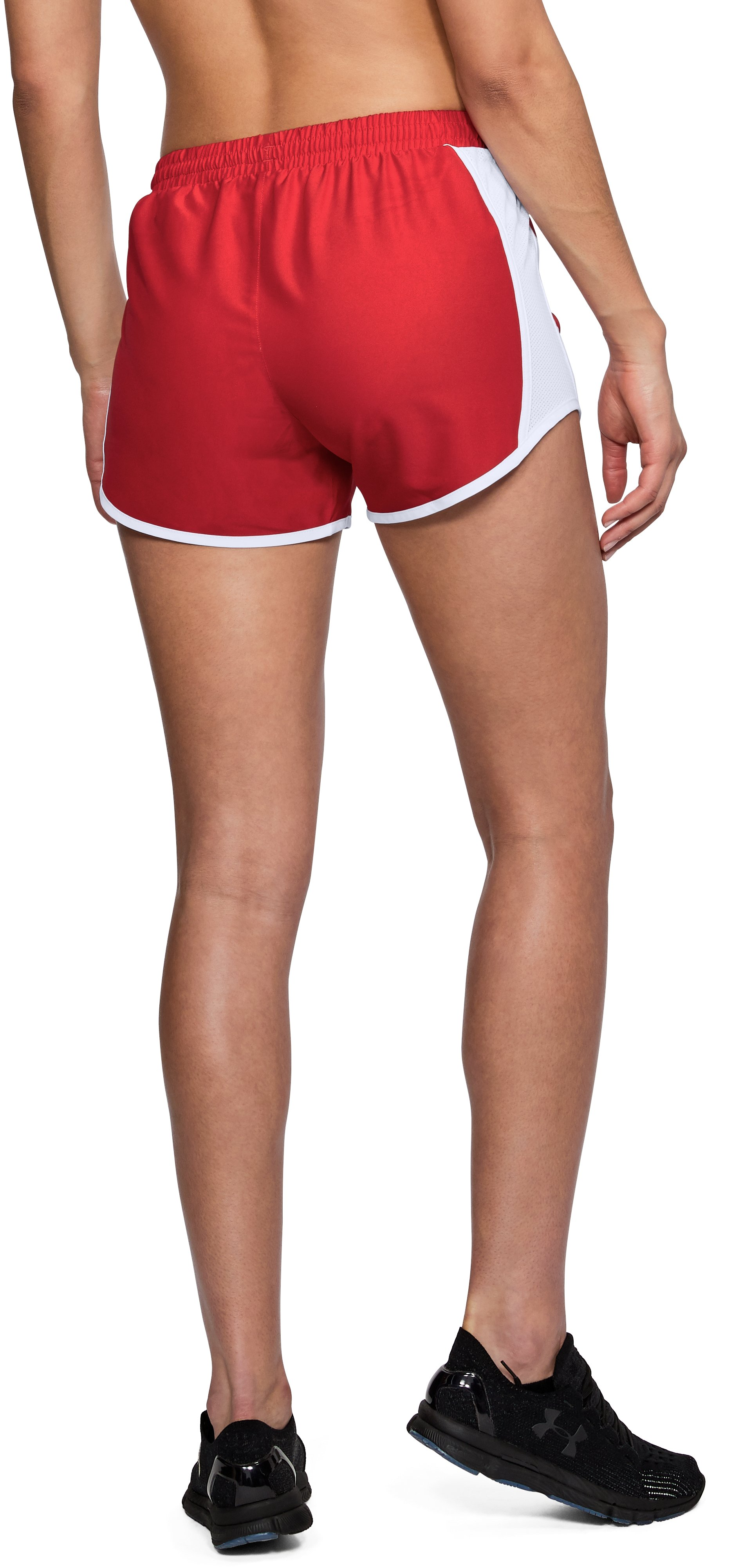 Women's UA Fly-By Shorts, Red,