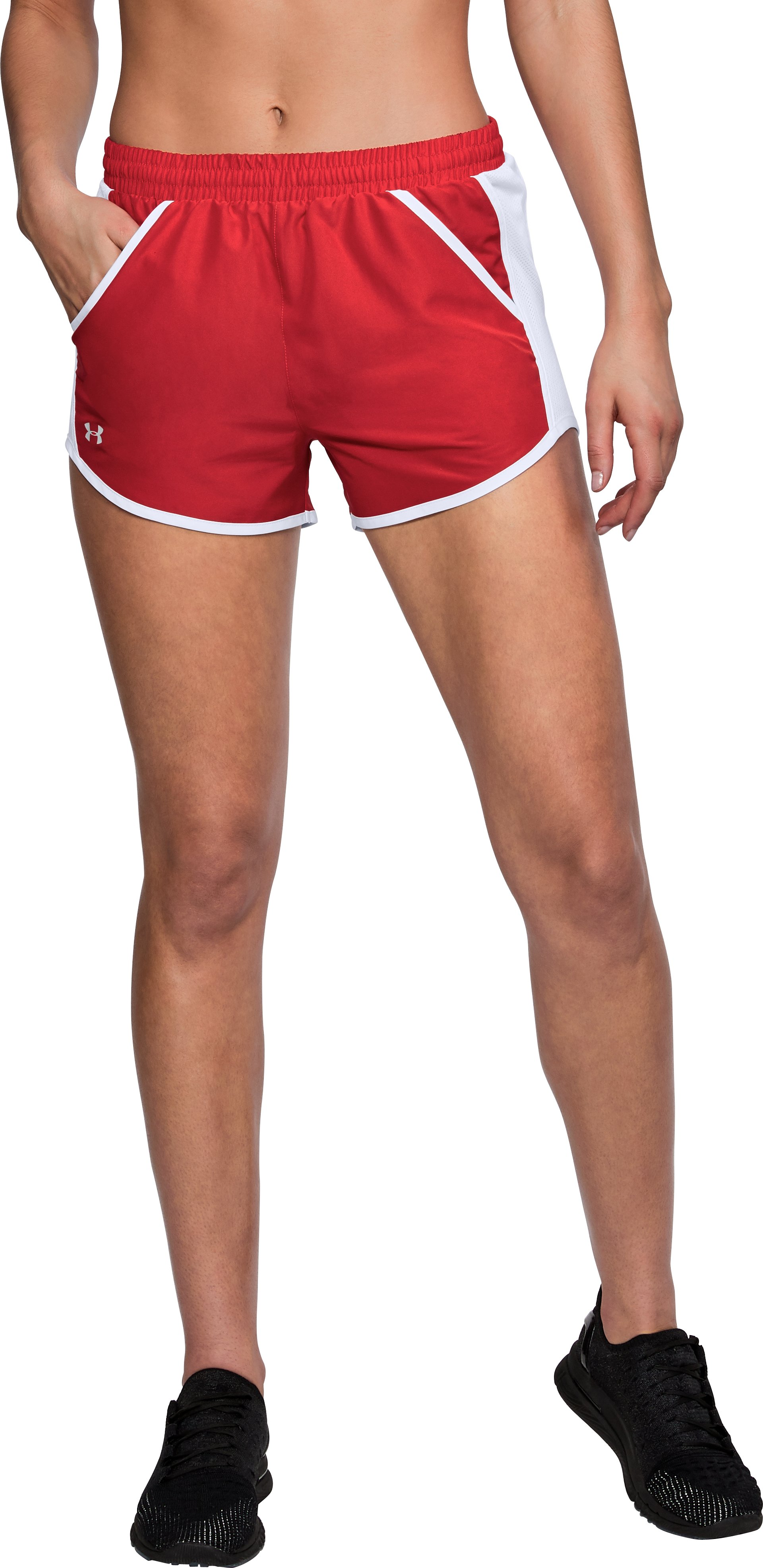 Women's UA Fly-By Shorts, Red