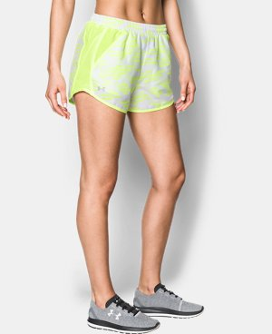 New Arrival Women's UA Printed Fly-By Shorts  1 Color $29.99