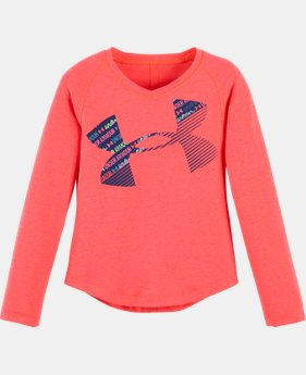 Girls' Toddler UA Wordmark Script Cropped Logo Long Sleeve LIMITED TIME: FREE U.S. SHIPPING  $18.99