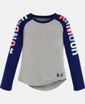 New Arrival Girls Toddler UA Rainbow Wordmark Raglan LIMITED TIME: FREE U.S. SHIPPING  $27.99