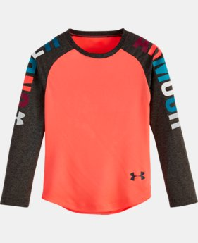 Girls Toddler UA Rainbow Wordmark Raglan  1 Color $15.74