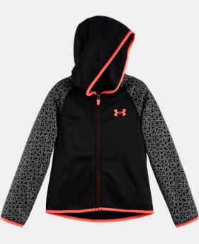 Girls' Pre-School UA Chain Grid Shimmer Hoodie  LIMITED TIME: FREE U.S. SHIPPING 1 Color $42.99