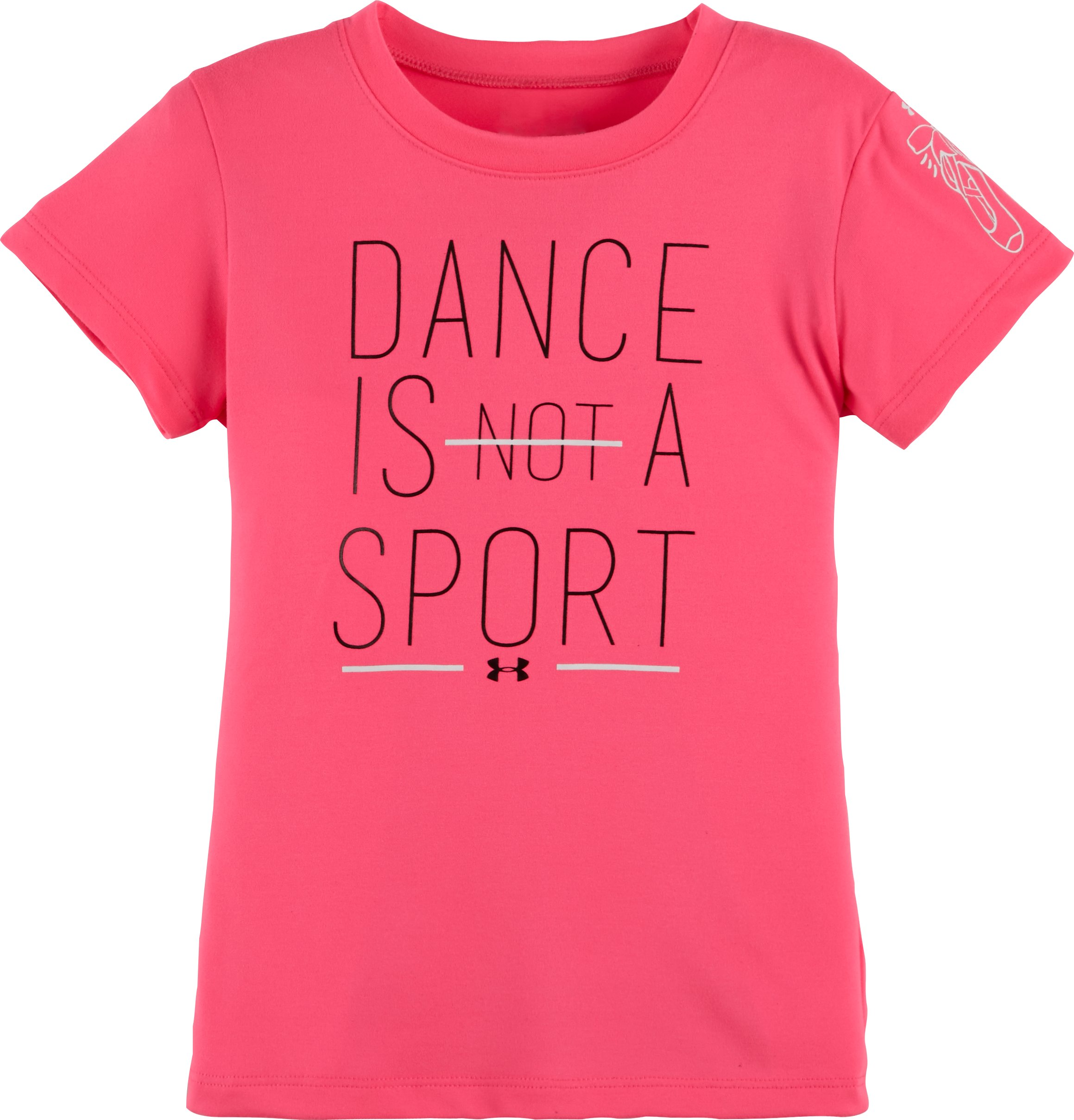Girls' Toddler UA Dance Is A Sport T-Shirt, PINK PUNK, zoomed image