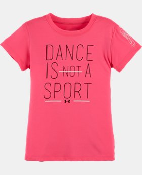 New Arrival Girls' Pre-School UA Dance Is A Sport T-Shirt   $17.99
