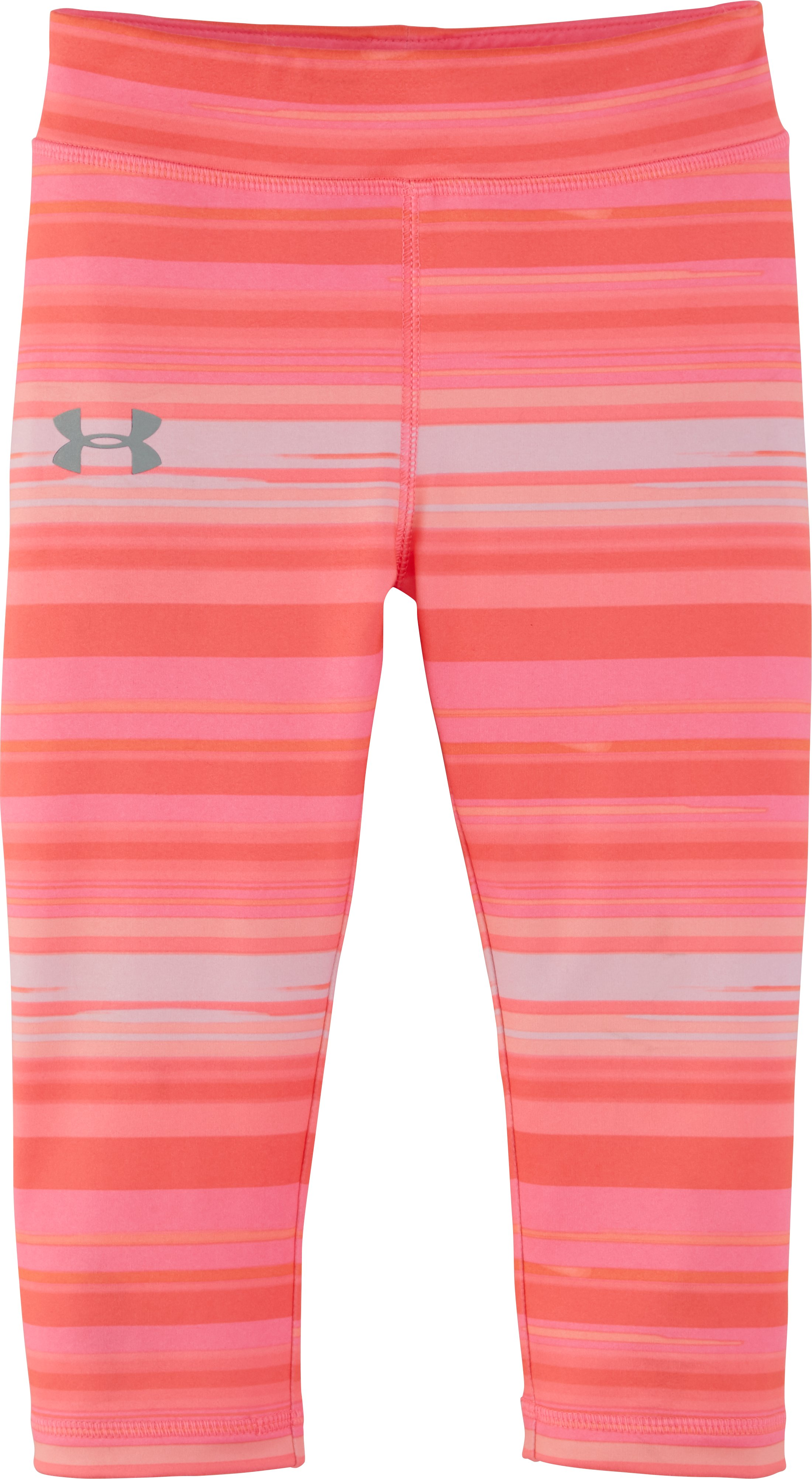 Girls' Toddler UA Blurred Stripe Capris, PINK CHROMA, zoomed image