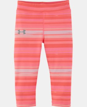New Arrival Girls' Toddler UA Blurred Stripe Capris LIMITED TIME: FREE U.S. SHIPPING  $27.99