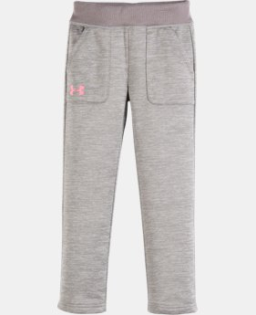 New Arrival Girls' Pre-School Armour® Fleece Pants   $32.99