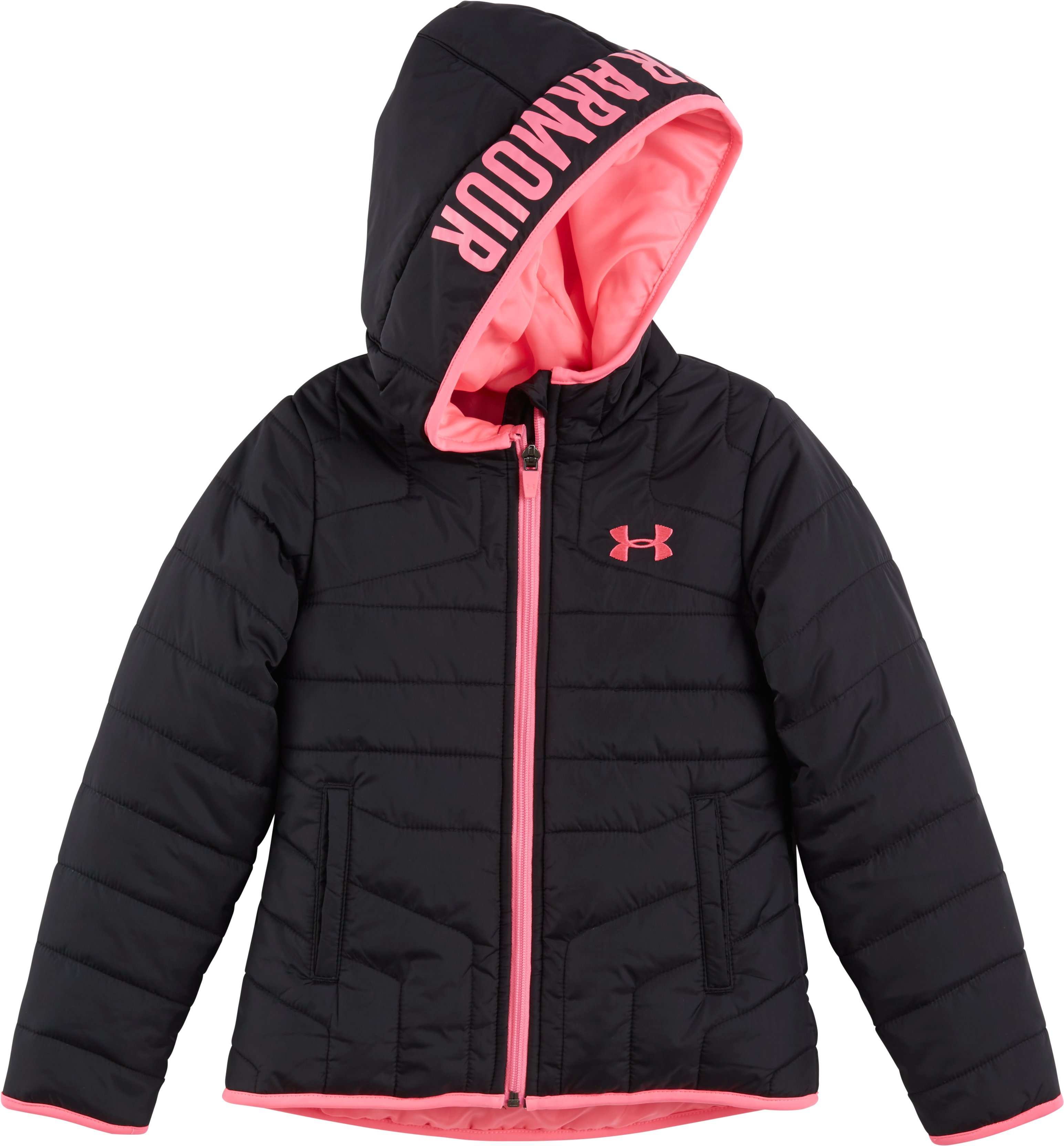 Girls' Infant UA Feature Puffer Jacket, Black , zoomed image