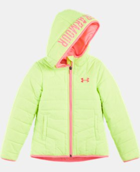 New Arrival Girls' Pre-School UA Feature Puffer Jacket  1 Color $59.99