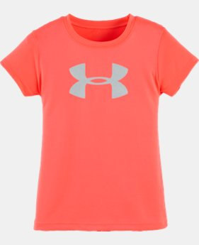 Girls' Toddler UA Glitter Big Logo T-Shirt LIMITED TIME: FREE U.S. SHIPPING  $13.99