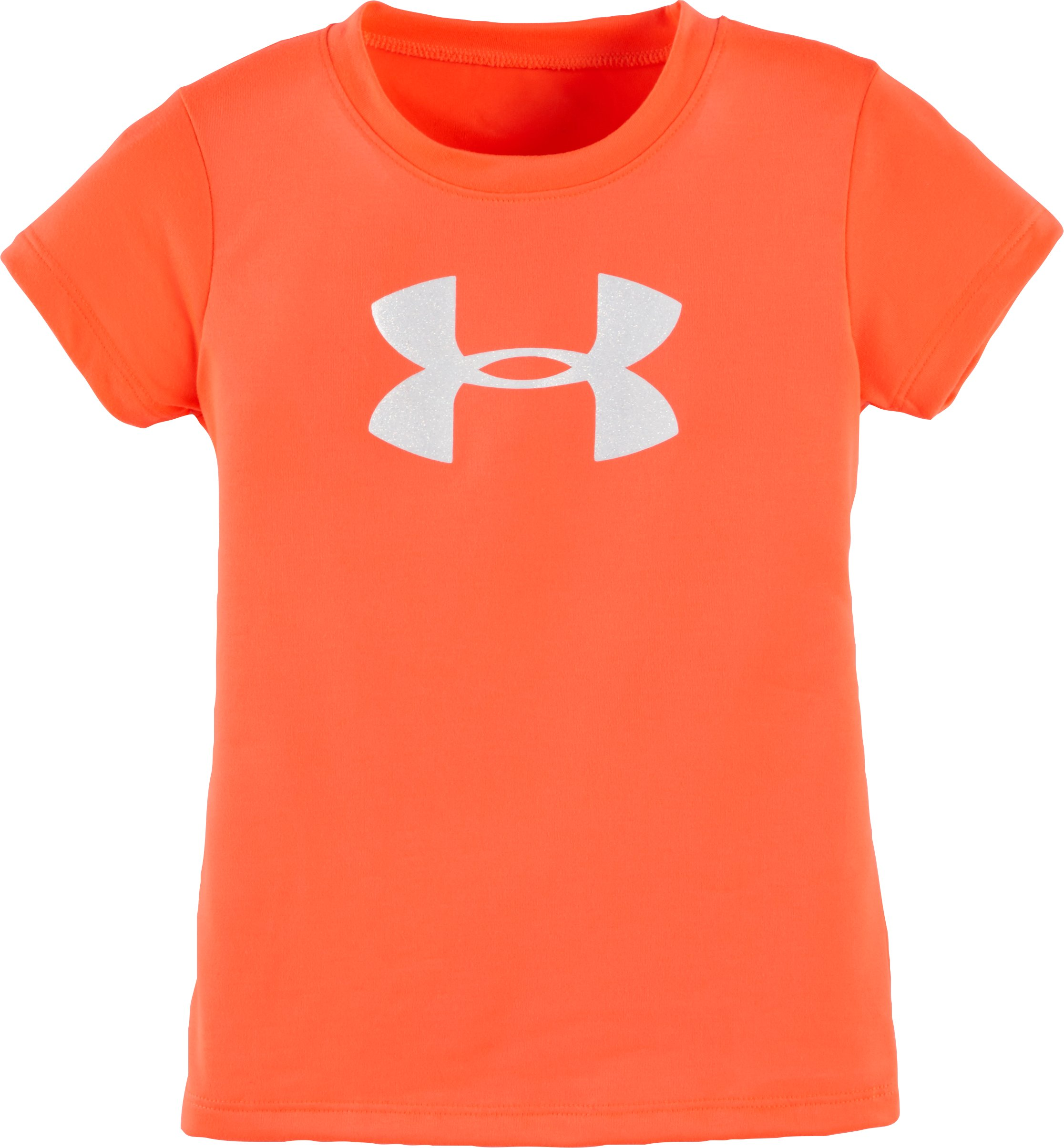 Girls' Toddler UA Glitter Big Logo T-Shirt, AFTER BURN