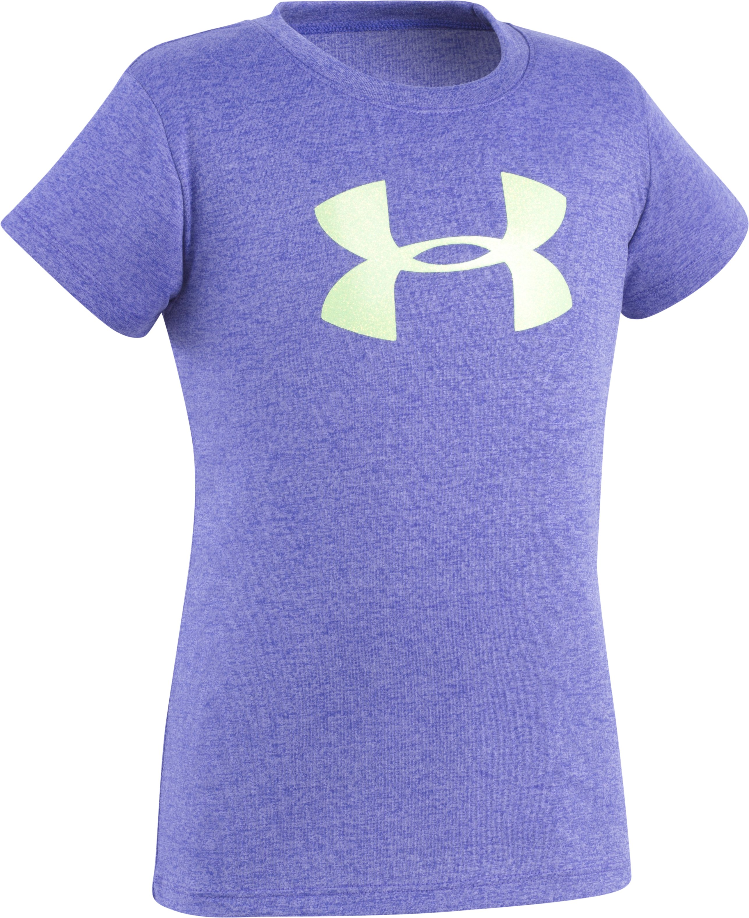 Girls' Pre-School UA Big Logo T-Shirt, CONSTELLATION PURPLE, Laydown