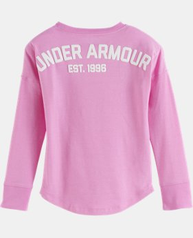 New Arrival Girls' Toddler UA Varsity Long Sleeve  1 Color $29.99