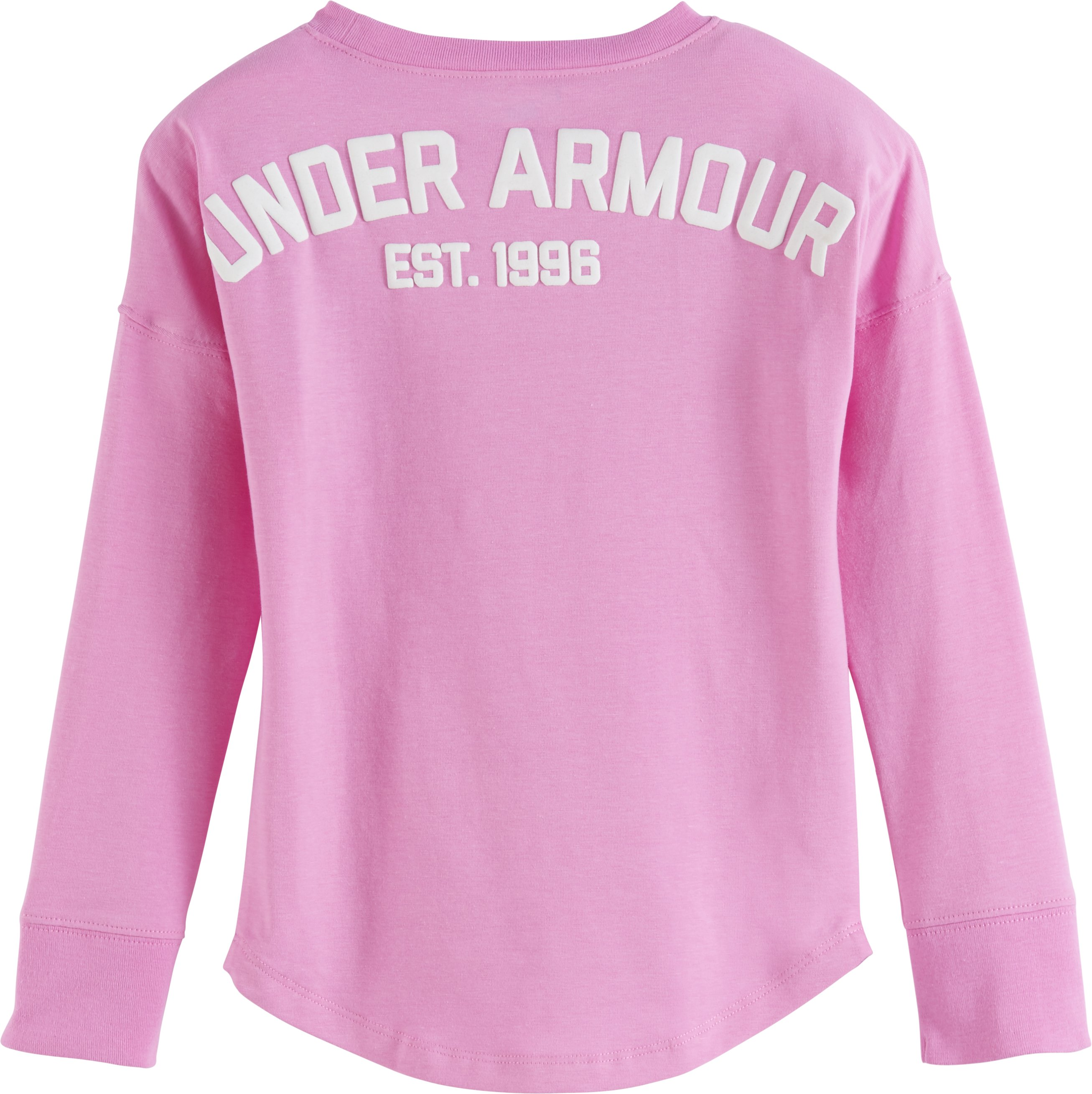 Girls' Pre-School UA Varsity Long Sleeve, VERVE VIOLET, undefined