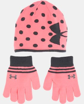 New Arrival Girls' Pre-School UA Beanie & Glove Combo Pack LIMITED TIME: FREE U.S. SHIPPING 1 Color $29.99